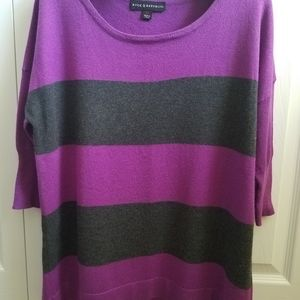 Rock & Republic black and purple shimmery sweater